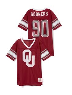 University of Oklahoma Mesh Bling Boyfriend Jersey - PINK - Victoria's Secret