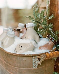 #Root #beer #milk in jugs. Use any favorite #drink and let your guests enjoy!