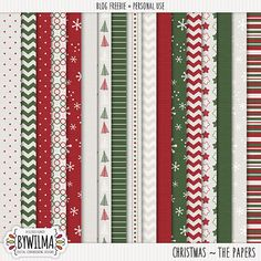Free Christmas Digital Papers Designed by Wilma