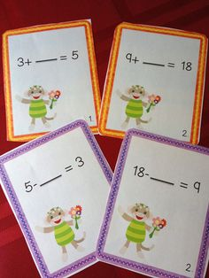 These are examples of the 2 Missing Addend Scoot games that are included in our Plant Bundle of 100 pages of ELA/Math Activities. There is also a fun and rocking plant song with a coloring book that has the words of the song, 21 word family cards, read around the room task cards, ELA/Math Print and Go sheets and more!$