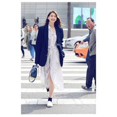 Model 김진경 Duster Coat, Kim Jin, Poses, Shirt Dress, Fashion Outfits, Instagram Posts, Hair, Jackets, Shirts