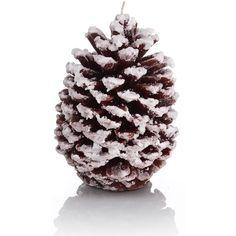 Mandarin, Cinnamon & Clove Pine Cone Inclusion Candle-Marks &... found on Polyvore