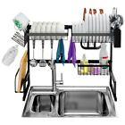 LANGRIA Dish Drying Rack Over Sink Stainless Steel Drainer Shelf, Professional Utensils Holder Display Stand for Kitchen Counter Organization, Fully Customizable, Inches Width (Black) Kitchen Organization, Kitchen Storage, Kitchen Utensils, Kitchen Racks, Organizing Life, Stainless Steel Utensils, Dish Drainers, Dish Racks, Utensil Holder