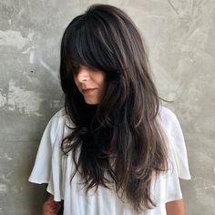 60 Most Universal Modern Shag Haircut Solutions Wispy Brown Black Shag for Long Hair Curly Shag Haircut, Modern Shag Haircut, Haircuts For Long Hair, Hairstyles With Bangs, Long Shag Hairstyles, Black Hairstyles, Formal Hairstyles, 70s Haircuts, Haircut Long Hair
