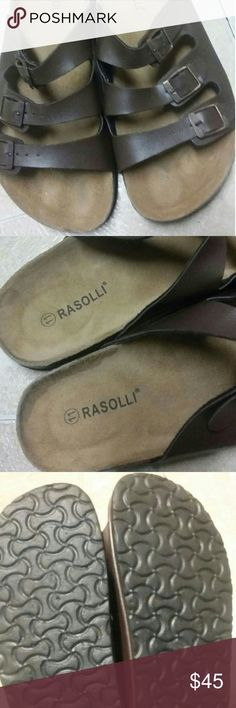 Used Rasolli sandals like Birkenstock . All in good condition Birkenstock Shoes Sandals