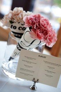 paper cones in vase