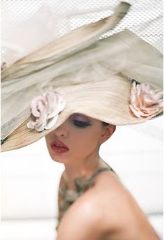 Dior couture hat