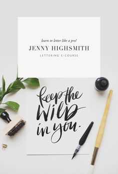 Learn to hand letter like a pro! With Jenny Highsmith professional lettering artist! A 10 video course with so many extra's!