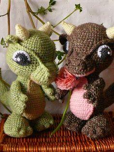 Cute Amigurumi Baby Dragons!