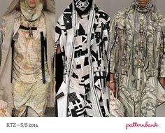 Menswear LFW Print  Pattern Highlights   Spring/Summer 2014  catwalks. The one in the middle (L)!!