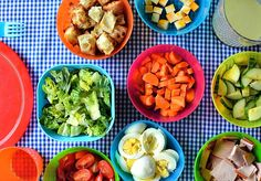 Let your toddlers have control over their own dinner with a build-your-own salad bar. This well-balanced buffet is a great way to introduce your young ones to the idea of eating (and enjoying!) salad for dinner.