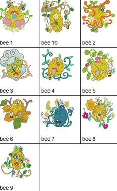 Honey Bees Machine Embroidery Designs
