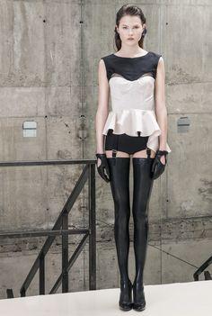 Dorothee Top #silk #taffeta #peplum