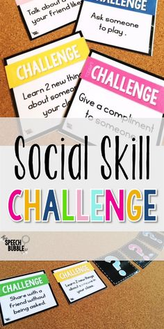 Social Skill Challenge for 2019! Back to school time is here! Get these printable, easy to use, challenge cards for your speech therapy or special education classroom to help your students SUCCEED in their peer relationships! #SLP #SpeechBubble #therapist #ASD #SPED #aspie #SocialSkills #TpT