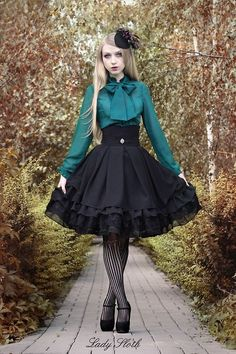 awesome Pretty green and black combination. Lady Sloth skirt.... by http://www.polyvorebydana.us/gothic-fashion/pretty-green-and-black-combination-lady-sloth-skirt/