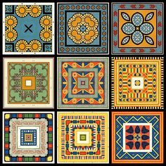 Mel is putting me on to Egyptian tiles...