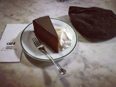 Genuine Sachertorte at Cafe Leopold Hawelka Wien
