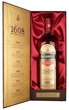 Bushmills 1608 Special Reserve, wunderbar weicher und runder Blend. Voller und ausgewogener Geschmack.