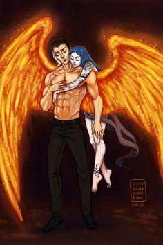 Akiva and Karou- Daughter of Smoke and Bone.