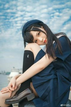 Cute Asian Girls, Beautiful Asian Girls, Cute Girls, Ulzzang, Dynamic Poses, Sailor Fashion, Female Poses, Kawaii, Pretty And Cute