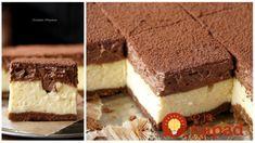 Tvarohový rez s čokoládovou penou – nebeská chuť: Tento dezert sme kupovali za drahé peniaze v cukrárni, konečne viem, ako ho pripraviť aj doma!
