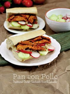 WOW, one of my best friends is from El Salvador and they have a local dish called Pan con Pollo (Bread with Chicken) MY GOSH it's sooooooo GOOD!!!