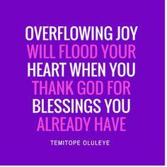 Temitope Oluleye: The Magic Of Thankfulness!