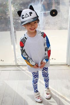Zig Zag Leggings for girls 1-5. A touch of flair for everyday wear. Cool kids fashion, play ready style.