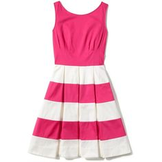 Kate Spade New York Celina Dress ❤ liked on Polyvore featuring dresses, vestidos, kate spade, scoop neck sleeveless dress, pink sleeveless dress, a line full skirt dress, scoop-neck dresses and kate spade dresses