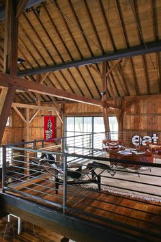 Michigan Barn | Recalimed Wood, Great Room, Loft | Northworks Architects + Planners