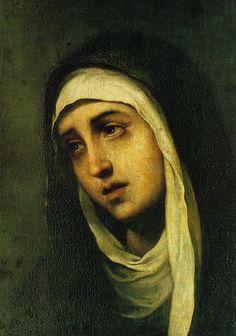 Mater Dolorosa Bartolome Esteban Murillo (spanish baroque painter, 1618-1682) ~Via Elena Alcazar