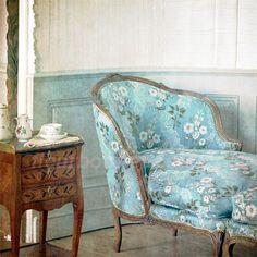 Tea at boudoir--original photo processed at PS ---8x8 inch print. $18.00, via Etsy.