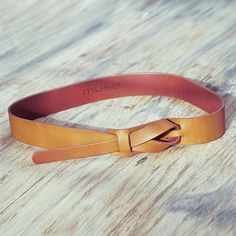 Tan Brown Leather Belt for Women in Modern Design - Classical Tan | NOVICA