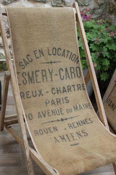 """Chilienne ou chaise longue """" sac en location """" / les couleurs de brocantine"""