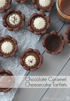 Chocolate Caramel Cheesecake Tartlets | Baking a Moment