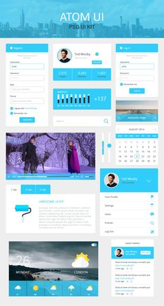 Atom Ui Kit: an awesome free UI kit Ui Forms, Card Ui, Login Form, Super Hero Outfits, Ui Elements, Design Elements, Shops, Ios Design, Mobile App Ui