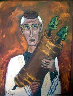 """""""Rabino"""" Oleo / canvas. Artista : Carlos Osorio Granado"""