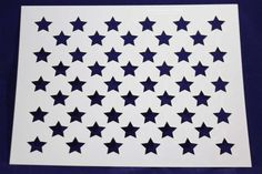 50 Star Field Stencil 14 Mil x - Painting /Crafts/ Templates: Laser Cut Mylar and Acrylic Templates for Quilting, Sewing and Stencils. Quilting Frames, Quilting Stencils, Quilting Rulers, Quilting Classes, Quilting Blogs, Quilting Designs, Small American Flags, Wooden American Flag, Star Template