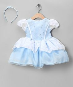 Take a look at this Blue Shimmer Cinderella Dress & Headband - Infant by Bijan Kids on #zulily today!