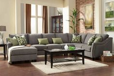 I love the style of this sectional. It would be nice if you could fit something similar (maybe a bit smaller?) into your front room tv/sitting area..