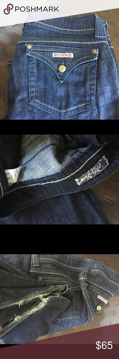 Hudson boot cut jeans size 31 Great pair of everyday jeans. The hem can easily be cleaned up or just leave it for the distressed look that's so in right now! Hudson Jeans Pants Boot Cut & Flare