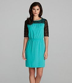 Gianni Bini Manon Lace-Yoke Dress