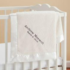 New Baby Boy Personalized Cream Baby Blanket - Newborn - Baby | Personalized Planet