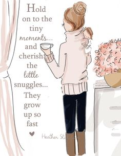 Wall Art for Moms and Women Tiny Moments by RoseHillDesignStudio
