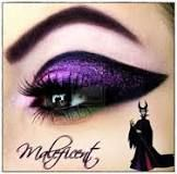 Malificant themed makeup