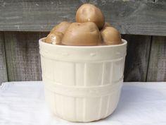 Vintage McCoy Cookie Jar Potato Bin by MyVintageAlcove on Etsy, $69.00
