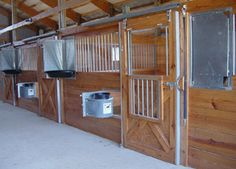 R-48 stall door w/Fold Down Door Grill, Sliding Hardware Set, Swing Out Feeder, Swing Out Insulated Waterer - all galvanized