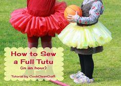tutorial for How to Sew a Full Tutu Skirt