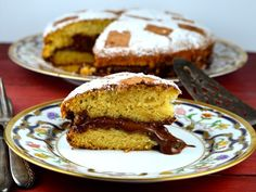 This is a simple yellow cake that is easy to make and very tasty. It can also be cut into slices and served with fruit.