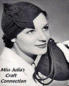 Vintage 1936 Chic Hat & Bag 401 PDF Digital by MissJuliasPatterns